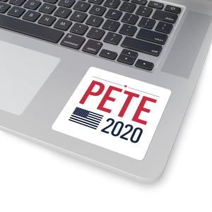 Pete 2020 Flag Square Stickers - mayor-pete