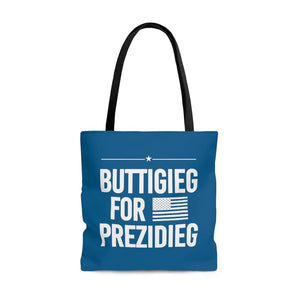 """Buttigieg for Prezidieg"" - River Blue - Tote Bag"