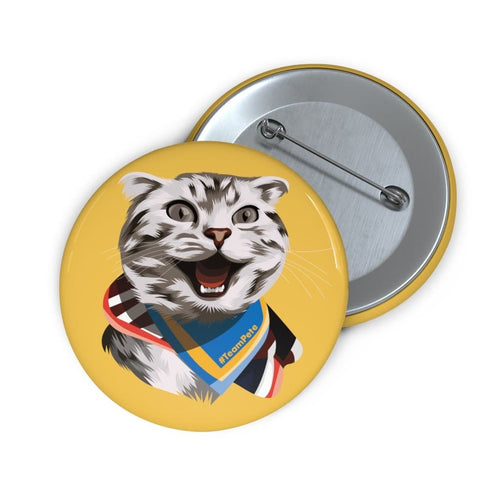 Happy Excited Cat - #TeamPete - Buttons