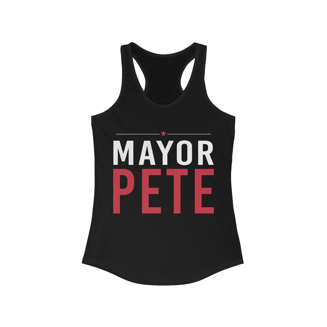 Mayor Pete Women's Ideal Racerback Tank - mayor-pete