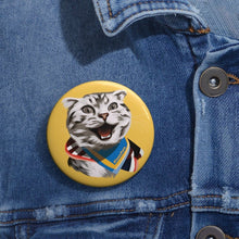 Load image into Gallery viewer, Happy Excited Cat - #TeamPete - Buttons