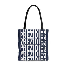 "Load image into Gallery viewer, ""Prezidieg all over"" - Strato Blue - Tote Bag"