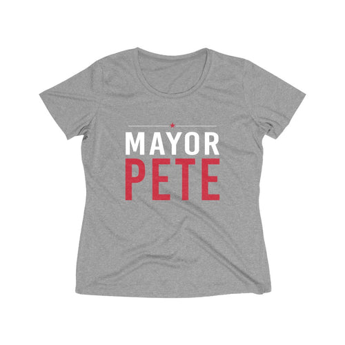 Mayor Pete Women's Heather Wicking Tee