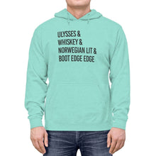"Load image into Gallery viewer, ""ULYSSES & WHISKEY"" - Lightweight Hoodie"