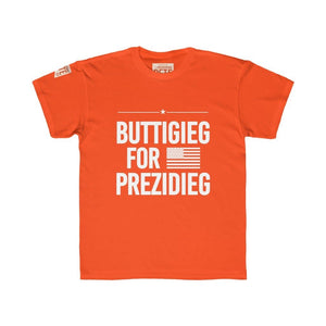 """Buttigieg for Prezidieg"" Kids Regular Fit Tee"