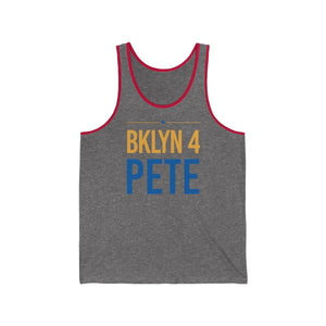 """BKLYN 4 Pete"" -  Jersey Tank - mayor-pete"