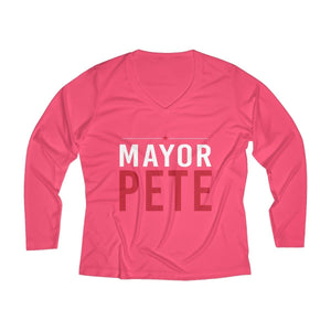 Women's Long Sleeve Performance V-neck Tee - mayor-pete