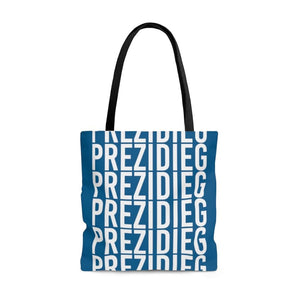 """Prezidieg all over"" - River Blue - Tote Bag"