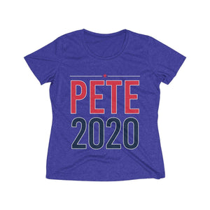 Pete 2020 Women's Heather Wicking Tee - mayor-pete