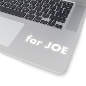 """for JOE"" add-on Stickers in White"