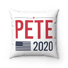 "Load image into Gallery viewer, ""Buttigieg for Prezidieg!"" & Pete2020 - Square Pillow - mayor-pete"