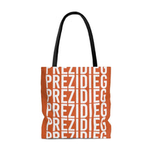"Load image into Gallery viewer, ""Prezidieg all over"" - Rust Belt - Tote Bag"