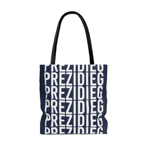 """Prezidieg all over"" - Strato Blue - Tote Bag"