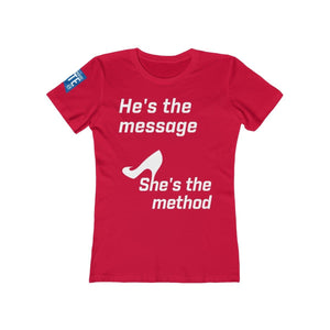 She's the Method - Women's The Boyfriend Tee - mayor-pete