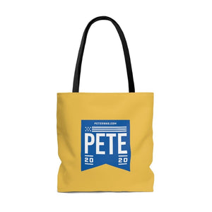 """Pete's Love & Understanding"" Tote Bag"