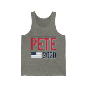 Pete2020 Flag Jersey Tank - mayor-pete