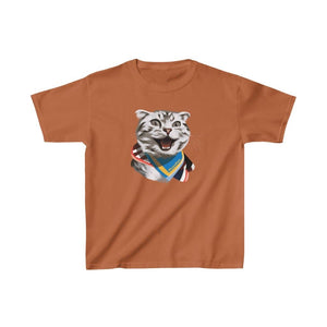 Happy Excited Cat - #TeamPete - Kids Tshirt