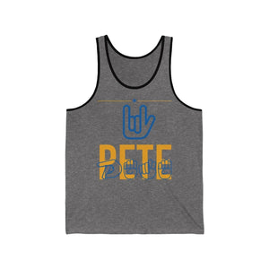 Love Pete ASL Jersey Tank - mayor-pete