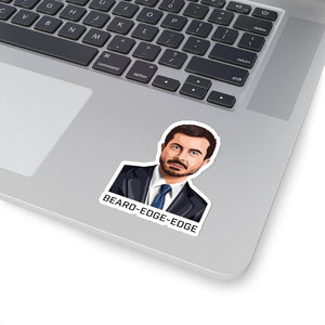 BEARD-EDGE-EDGE Stickers