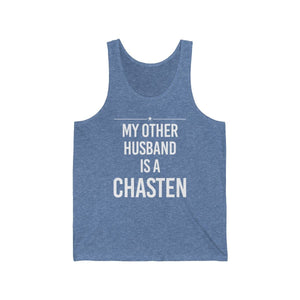"""My Other Husband is a Chasten"" - Jersey Tank - mayor-pete"