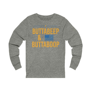 """Buttabeep & Buttaboop"" - Unisex Jersey Long Sleeve Tee - mayor-pete"