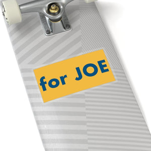 """for JOE"" add-on Stickers - River Blue on Heartland Yellow background"