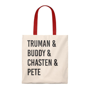 """Truman & Buddy"" -  Tote Bag - Vintage - mayor-pete"