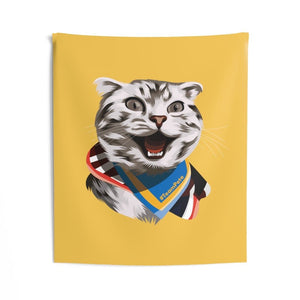 Happy Excited Cat - #TeamPete - Wall Tapestries