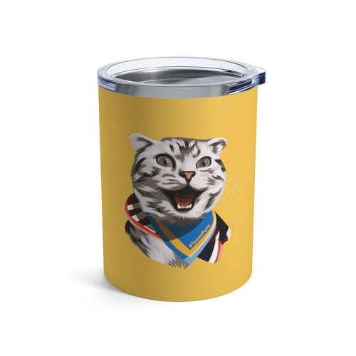 Happy Excited Cat - #TeamPete - Tumbler 10oz