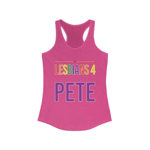Lesbians 4 Pete -  Women's Ideal Racerback Tank - mayor-pete