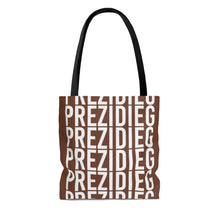"Load image into Gallery viewer, ""Prezidieg all over"" - Truman Brown - Tote Bag"