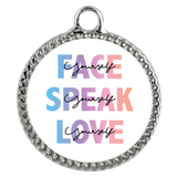 Face Yourself, Speak Yourself, Love Yourself Necklace - Deco Coin