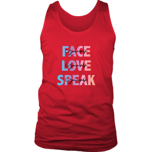FACE, LOVE, SPEAK Yourself Men's Tank