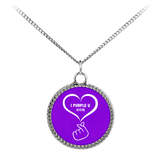 I Purple U 보라해 HEARTEU Necklace - Deco Coin