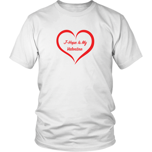 J-Hope Is My Valentine White Unisex Tee