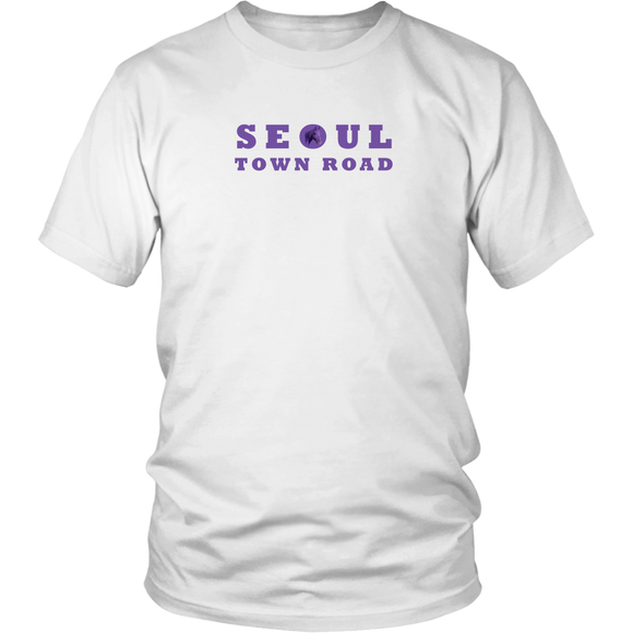 Seoul Town Road Purple Horse Unisex T-Shirt