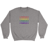 I Purple U Unisex Crewneck