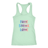 Face Yourself, Speak Yourself, Love Yourself Women's Racerback Tank