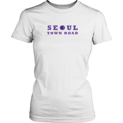 Seoul Town Road Purple Horse Women's T-Shirt