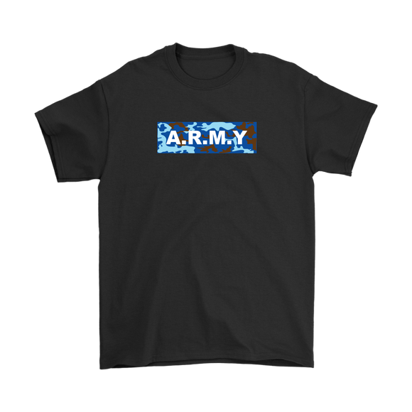ARMY Blue Camo Men's Tee