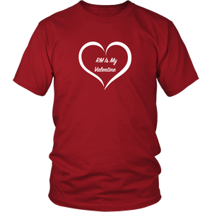 RM Is My Valentine Red Unisex Tee
