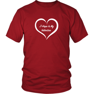 J-Hope is My Valentine Red Unisex Tee