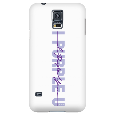 I Purple U Phone Case