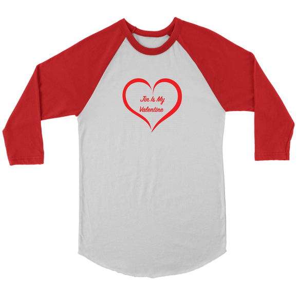 Jin Is My Valentine Unisex 3/4 Raglan