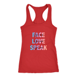 FACE, LOVE, SPEAK Yourself Women's Racerback Tank