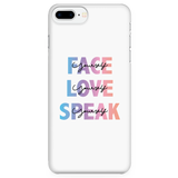 FACE, LOVE, SPEAK Yourself Phone Cases