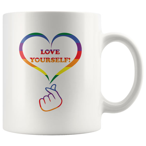 LGBT Love Yourself Mug