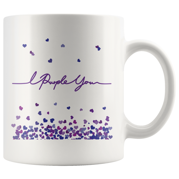 I Purple You Handwritten Mug