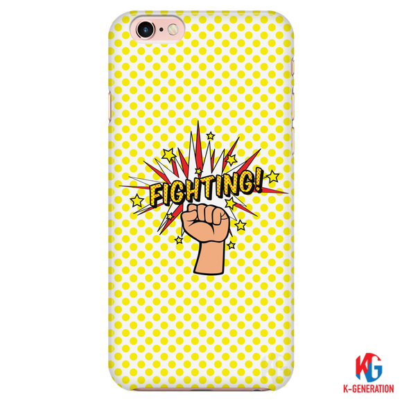 Fighting Yellow Polka Dot Phone Case