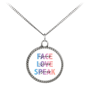 FACE, LOVE, SPEAK Yourself Necklace - Deco Coin
